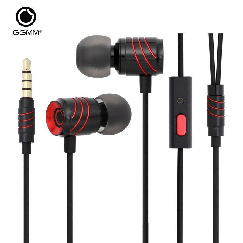 GGMM C800 Écouteurs pour Téléphone HiFi Écouteur fone de ouvido Casque Écouteurs Écouteur auriculares Stéréo Métal Écouteurs Casque