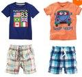 TZ237, бесплатная Доставка Лето Мальчик Костюм Новый Милый Детская одежда устанавливает футболки + шорты 2-х частей Дети одежда