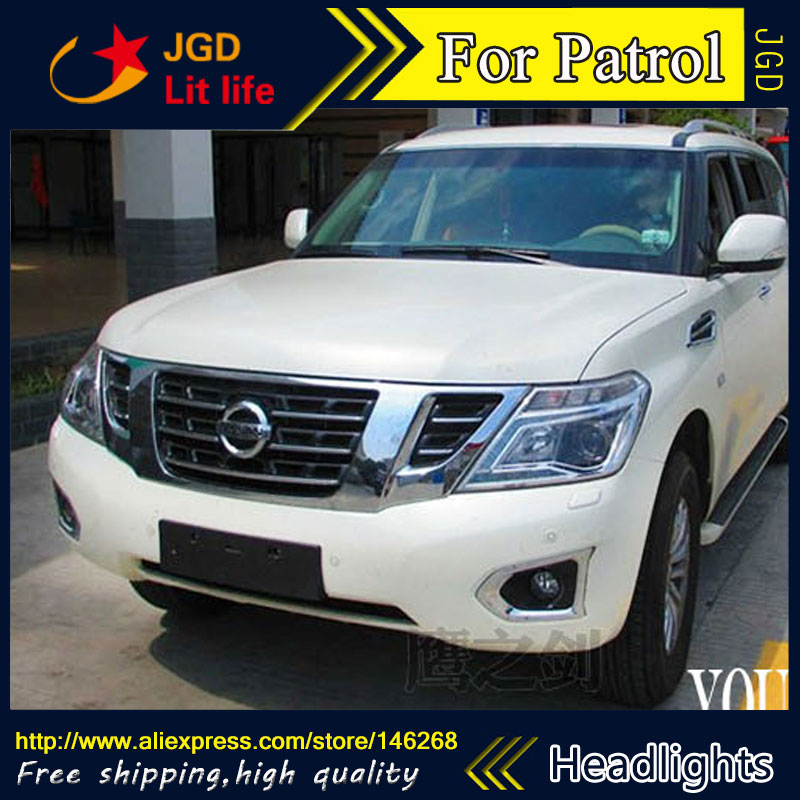high quality ! HID LED headlights headlamps HID Hernia lamp accessory products case for Nissan Patrol 2014 Car styling