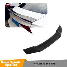 Real Carbon Fiber Rear Trunk Spoiler Lip for Audi A3 S3 RS3 Sedan 4-Door 2013-2018 Car Rear Wing Trunk Lip Spoilers(China)