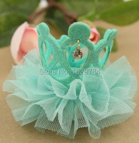 10st Mode Glitter 3D Gemstone Cutout Tiaras Hairbands Solid Söta - Kläder tillbehör - Foto 6