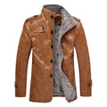 2016 PU Leather Jacket Men Brand High Quality Fashion Warm Winter Motorcycle Business Casual Mens Leather Jackets Coats