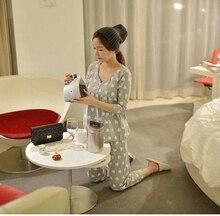 Home casual Cotton font b maternity b font font b clothes b font Pajama Sets women