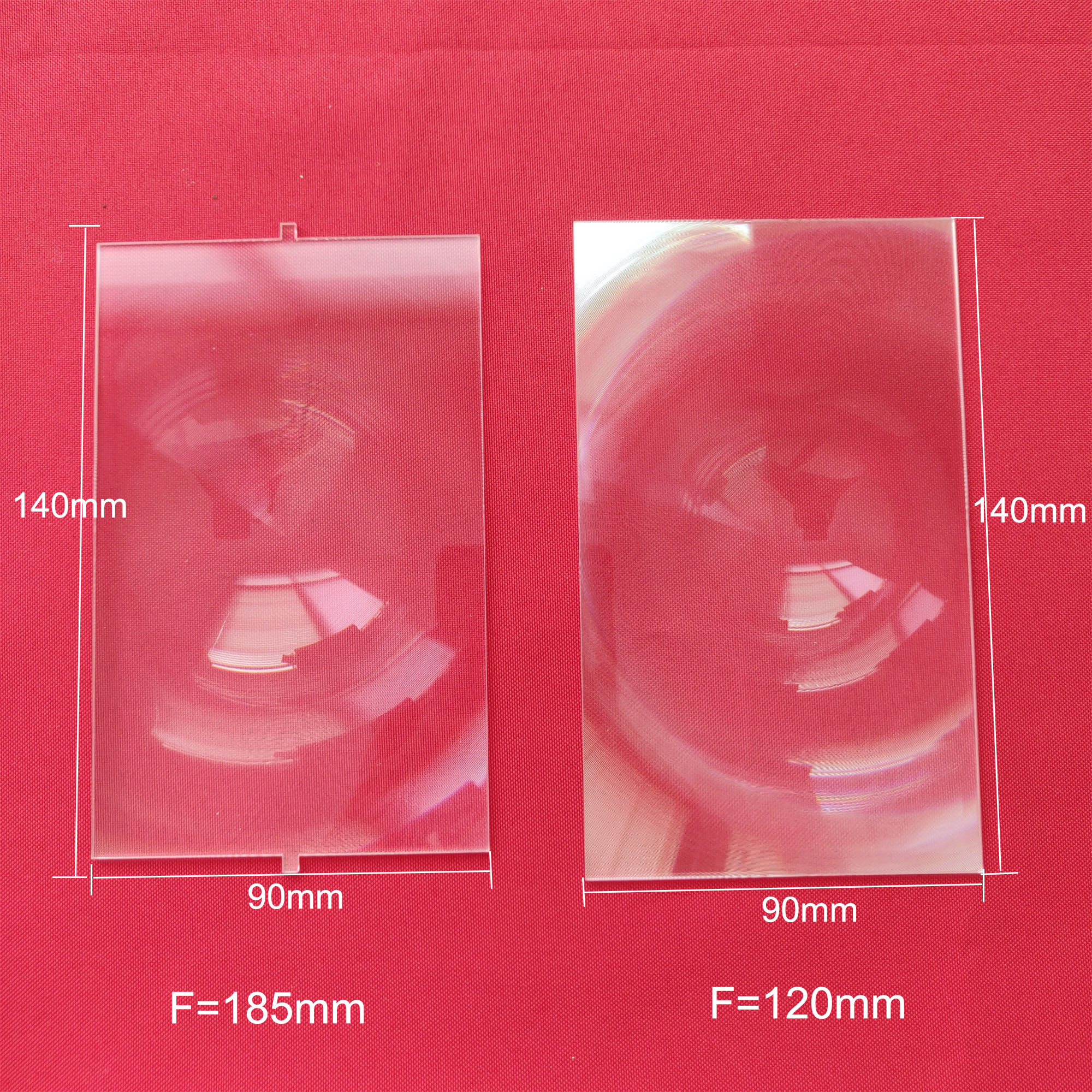 140*90 F185 /120 Fresnel Lens For 5.8 Inch DIY Projector Lens Projector Dedicated Mobile Phone / FPV Video Glasse