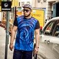 Марка мужская одежда 3d голубая роза майка плюс размер о-образным вырезом мода 2016 летние мужчины хип-хоп футболки свободные 5xl тис повседневная топы