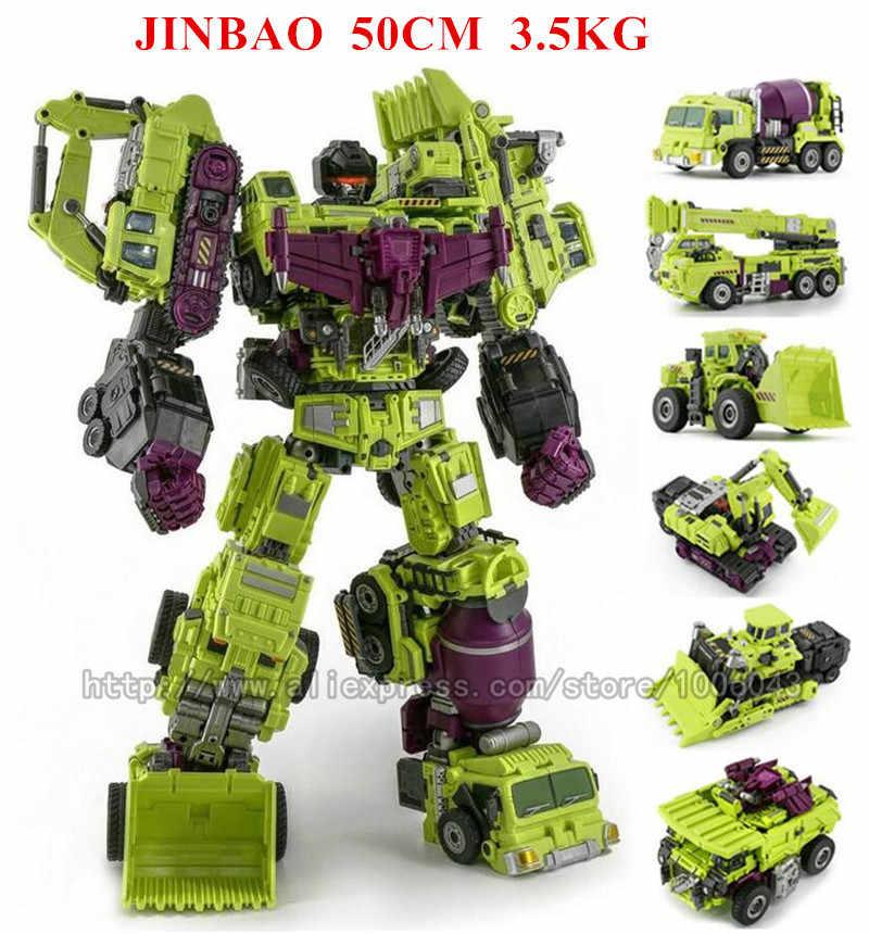 Jinbao Size Lớn Anime Devastator Biến Đổi Đồ Chơi Thoáng Mát Ko Nhân Vật Hành Động G1 Robot Ô Tô Xe Tải Móc Khóa Mô Hình Cậu Bé Đồ Chơi Trẻ Em quà Tặng