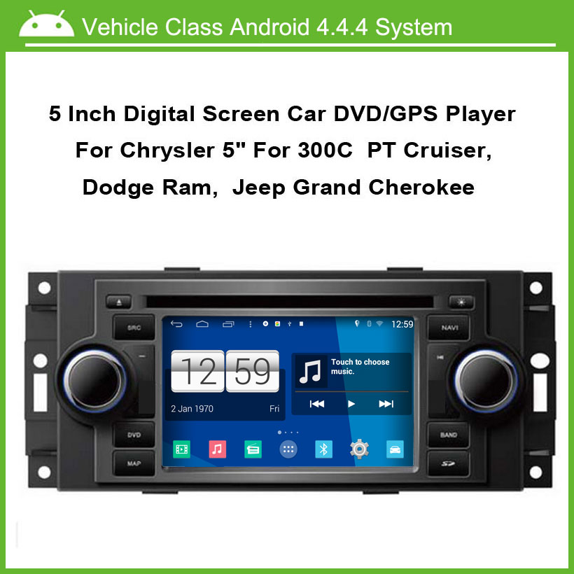 Android Car DVD player FOR Chrysler 300C PT Cruiser Dodge Ram Jeep Grand Cherokee With GPS Bluetooth 1G CPU