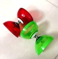 YOYO chino 3 Teniendo Diabolo Set Metal Sticks Bolsa de Cuerda de Embrague Palos Juguetes Al Aire Libre Juguetes Regalo de Los Niños