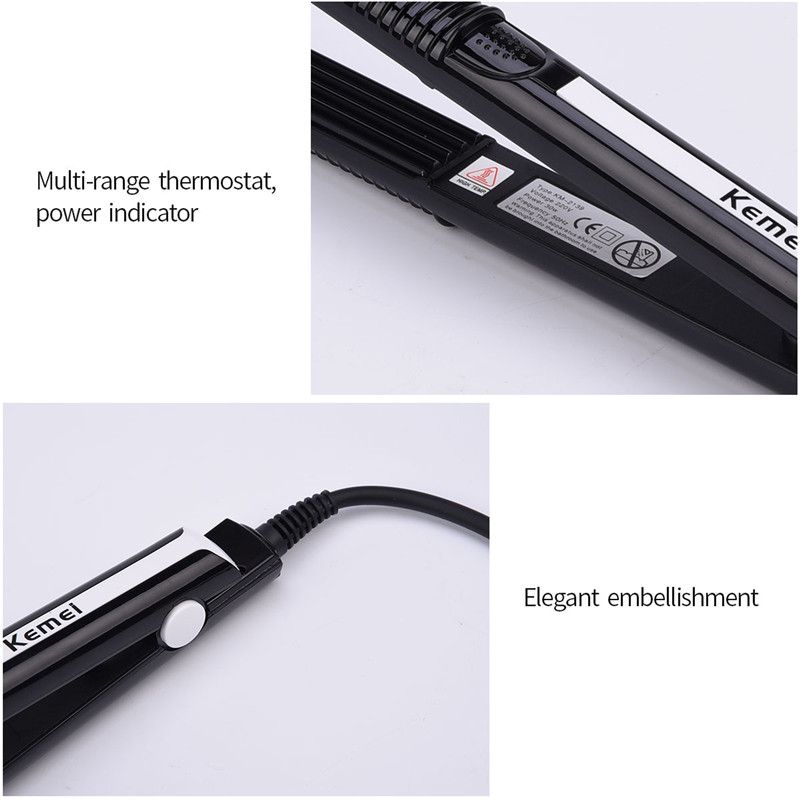 220V Professional Crimper Ceramic Corrugated Curler Curling Iron Hair Styler Electric Corrugation Wave Hair Iron Styling Tools