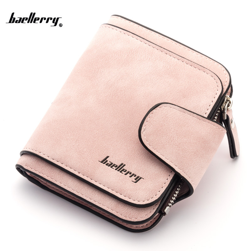 2018 New Retro Women Wallets Zipper Hasp Coin Purse for girls Nubuck leather Short Wallet Card Holders Dollar Price new anime style spiderman men wallet pu leather card holder purse dollar price boys girls short wallets with zipper coin pocket