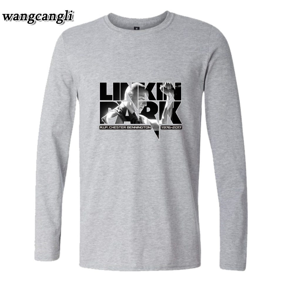 2018 Linkin Park R.I.P Chester Fans Club T-shirt Men/Women Autumn Summer Long Sleeve Cotton T Shirt Plus Size xxxxl tshirt Tops