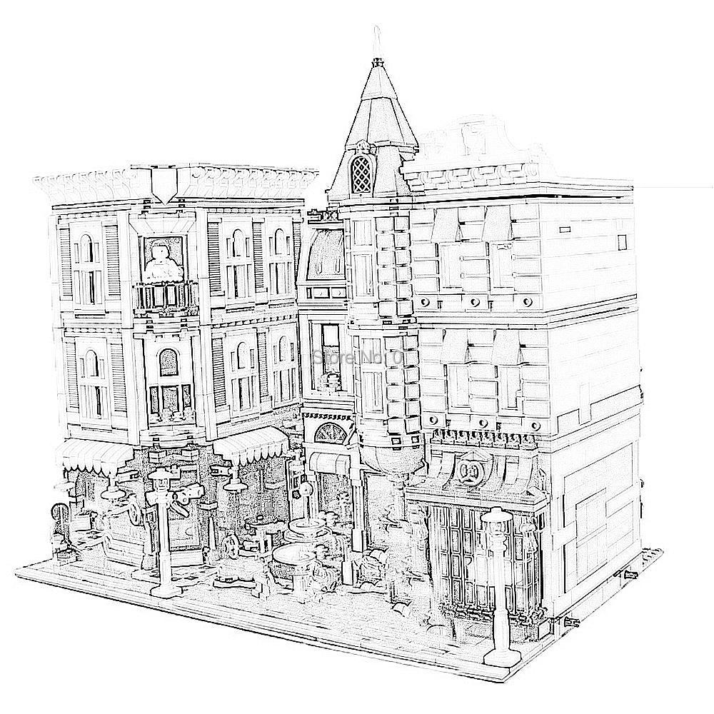30019 4002pcs 도시 거리 인물 광장 lele 빌딩 블록 10255 벽돌 장난감-에서블록부터 완구 & 취미 의  그룹 1