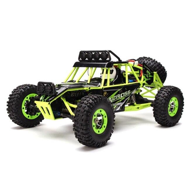 Wltoys 12428 1/12 4WD Alta Velocidade Controle Remoto Carro de Escalada Off-Road RTR Carro Do RC Com Luz LED 2.4 GHz
