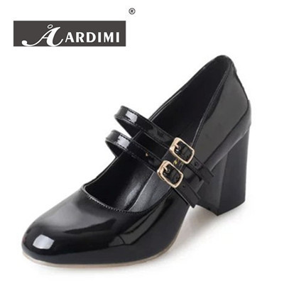 New 2017 spring solid double buckle women pumps 3 colors oxford platform shoes woman fashion mary janes women shoes high heels