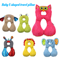 Cartoon Animal 1-4years Child Head Neck Support Headrest U-shaped Travel Car Seat Pillow Cushion Buckle baby protector LYJ167