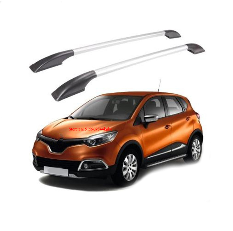 Car Roof rack Luggage Carrier bar Car Accessories For Renault Captur 2014 2015 teaegg top roof rack side rails luggage carrier for hyundai tucson ix35 2010 2014