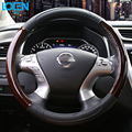 Universal High Quality Leather Car Steering Wheel Cover Anti-Slip Holder Protector 38CM Interior Accessories Auto Supplies