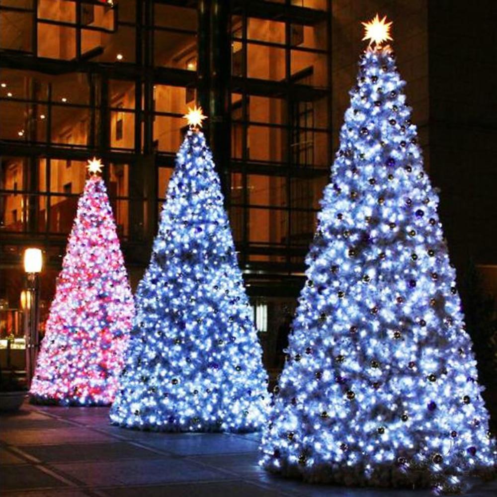 light tree led string lights 100leds with eu us plug for christmas