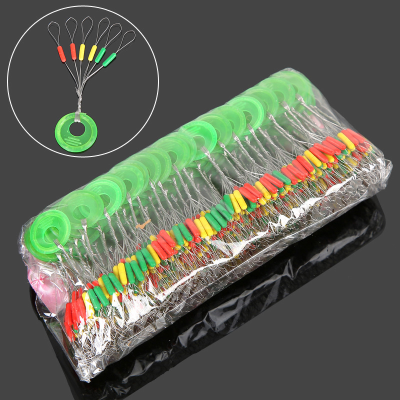 600Pcs 100 Groups/Set Fishing Space Beans Stoppers 5cm Float Connector Seat for Carp