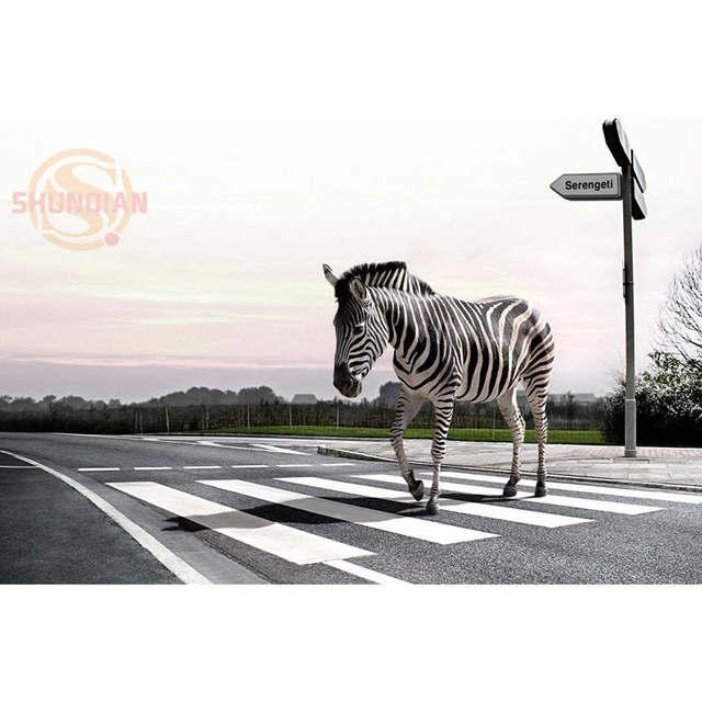 Best Nice Custom Walking On The Zebra Crossing Zebra Silk Poster ...