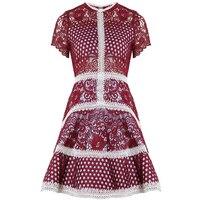 Marque de mode de femmes haut de gamme de luxe l'industrie lourde broderie couture dentelle positionnement motif robe