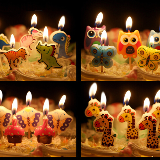 2 Set Creative Fashionable Birthday Cake Candles To Give A Special Party Kids Animal Car