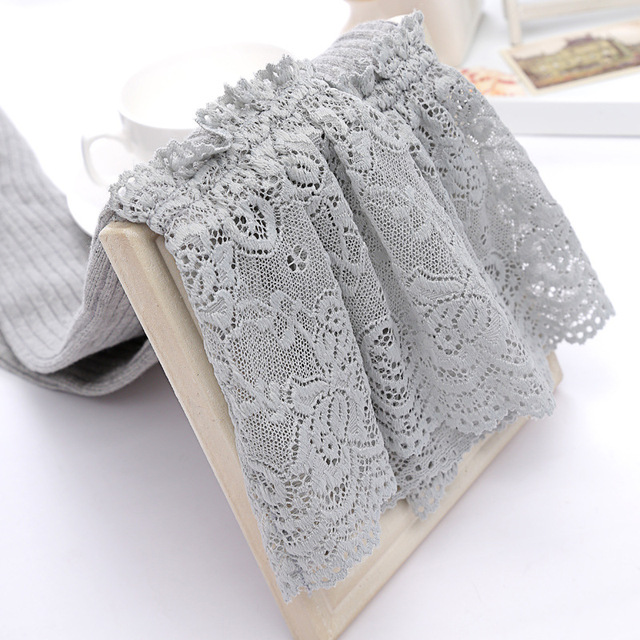 lace cotton knee high tube womens  stockings