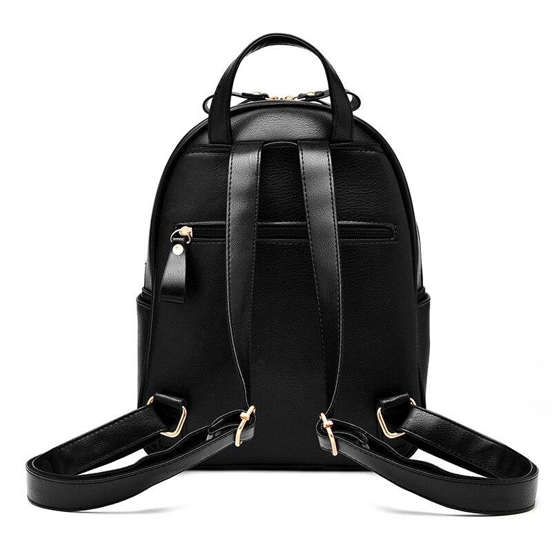 Luxury Women Backpack PU Leather School Bags For Teenagers Girls Leisure Ladies Backpacks Female Rucksack Travel bag Mochilas