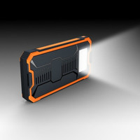 NEW Waterproof power bank 20000mah solar power bank with LED lighting outdoor charging bank for iphone x Samsung xiaomi