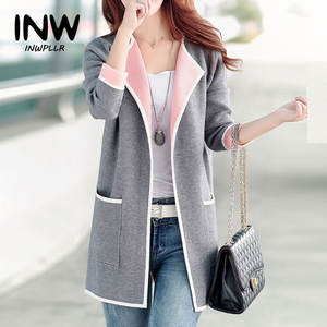 6d76939a09 INWPLLR Women Long Sleeve Jackets Outerwear Coat Female