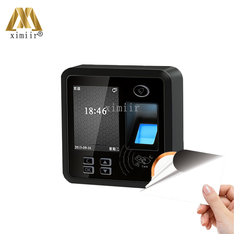 Cheap Biometric Fingerprint Access Control System TCP/IP Fingerprint And MF Card Time Attendance And Access Control Reader
