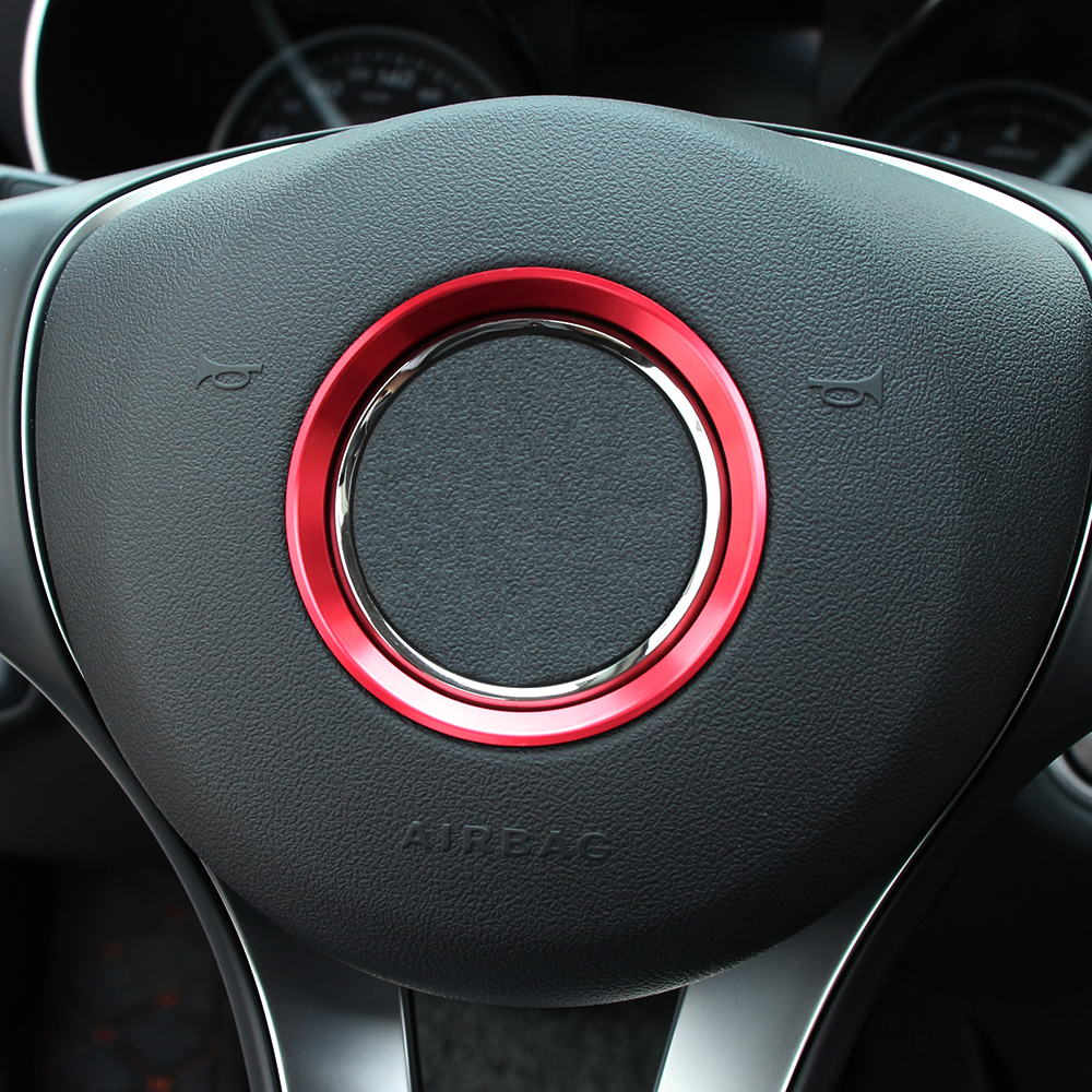 car aluminum steering wheel cover logo ring for mercedes benz w205
