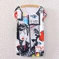 2016 Estilo Punky Verano Camiseta Harajuku Cómics Girls T Shirt Mujeres Tops Blusa Camisas Femeninas 2016 Camiseta S2389