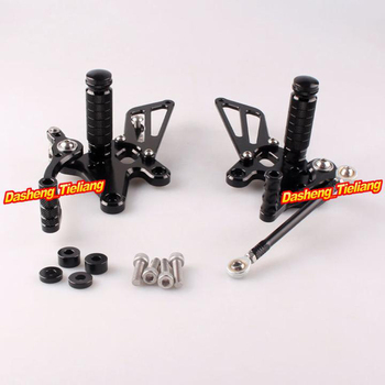 Adjustable Shift Foot Pegs Rear Set Footrests Replacement Kit For Kawasaki Ninja 250R 2008-2012 Motorcycle Accessory Parts