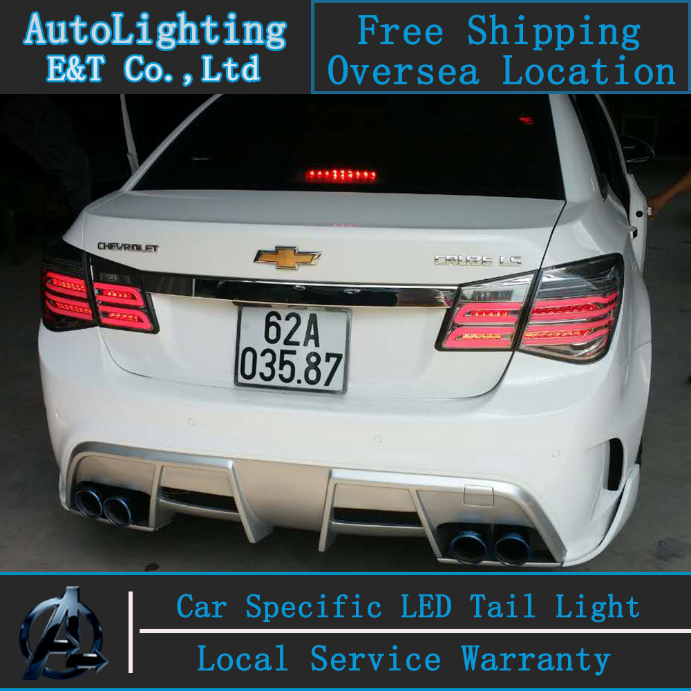 Auto Lighting Style LED Tail Lamp for Chevrolet Cruze led tail lights Glk Design rear trunk lamp cover drl+signal+brake+reverse