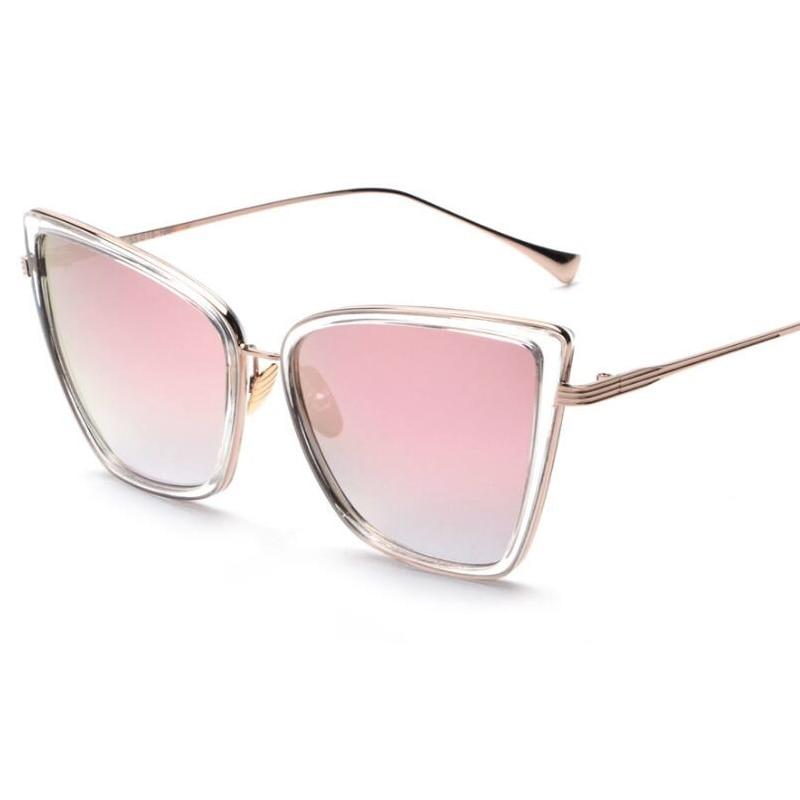 e2e1950db5f5c MENINA REAL Nova Moda Olho de Gato Mulheres óculos de Sol Marca de Luxo  Designer Frame Da Liga Do Vintage Shades UV400 ss520