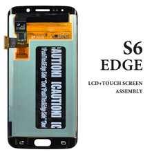 3pcs For Samsung S6 Edge G925 G925A G925 LCD 5.1 Inch Blue White Gold Green Screen Assembly Cellphone Display Replacement Parts