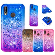 Silicone Case For Huawei P20 Lite diamond Back Cover TPU Cute gradient Color glitter Coque Ultra Thin women