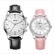 คู่คนรักปฏิสัมพันธ์สมาร์ทนาฬิกาบลูทูธ4.0 elgantตัวชี้androidนาฬิกาpedometeไพลินแก้วLED dazzelin s mart w atch