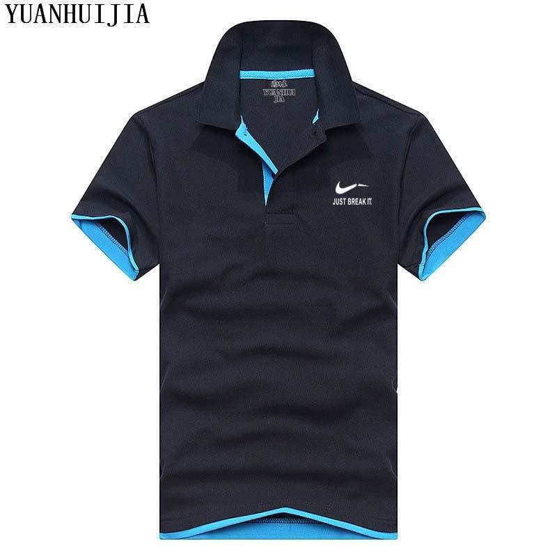 Új 2018 polo férfi póló kiváló minőségű pamut rövid ujjú - Férfi ruházat