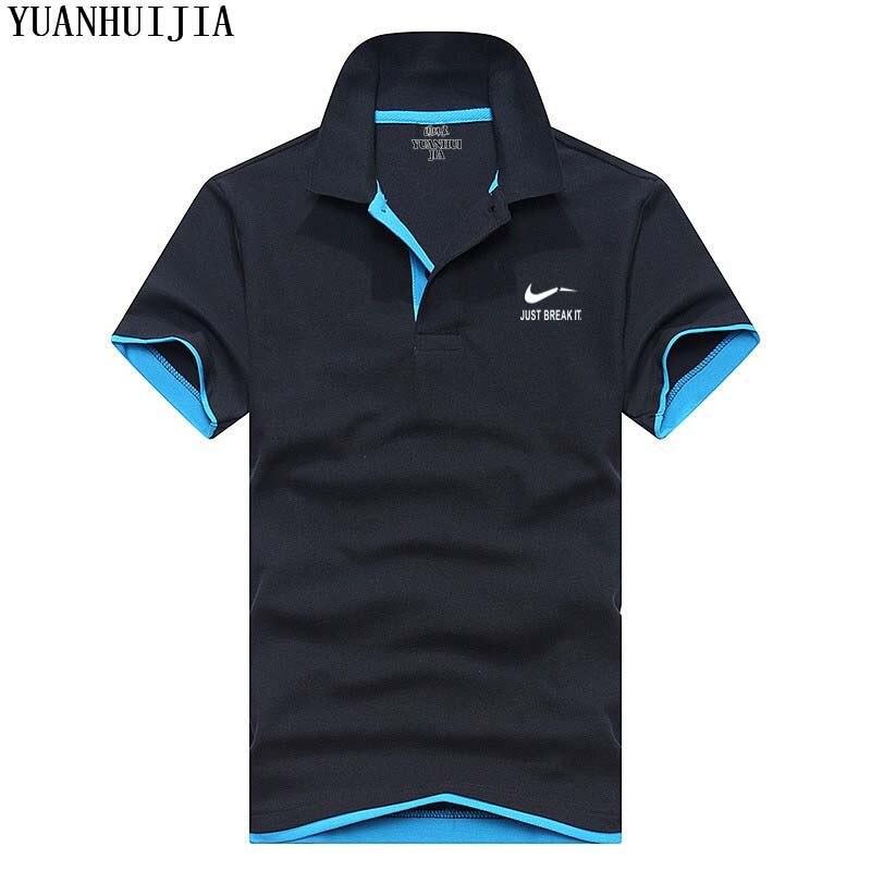 Nuovo 2018 uomini di polo camicia di cotone di alta qualità camicia a manica corta estate traspirante maschio solido camicia di polo