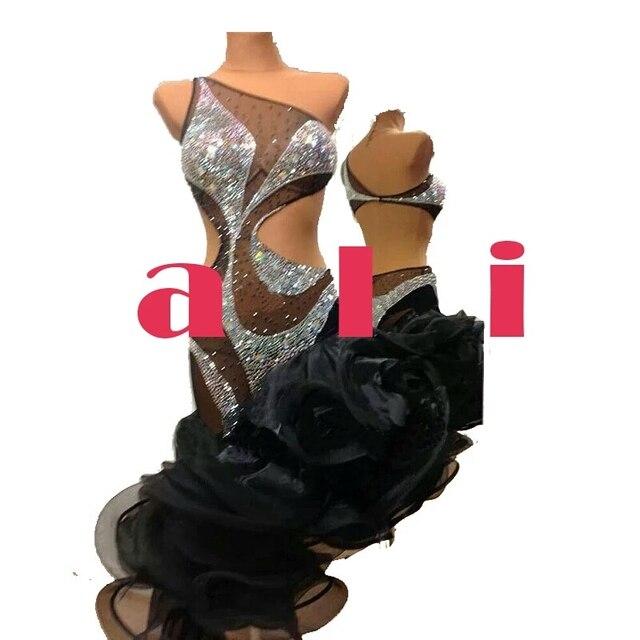 Vestido de baile de competición, vestido de baile latino, vestido de salón de baile latino, vestido de competición de baile latino