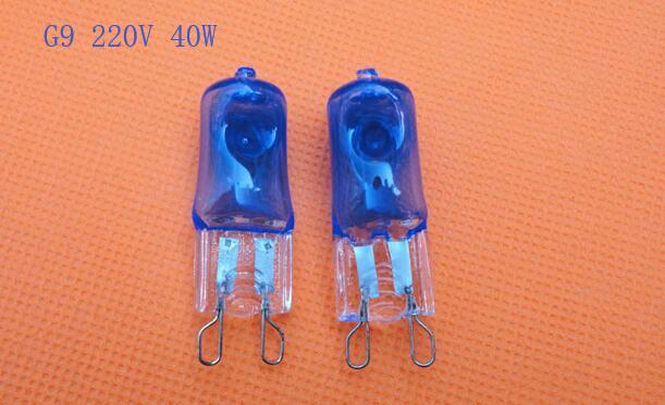 Галогенная лампа G9 40 Вт, 2 шт./лот, 220 В, Энергоэффективная лампа с теплым белым и синим светом, лампочка с высокой яркостью 3000K