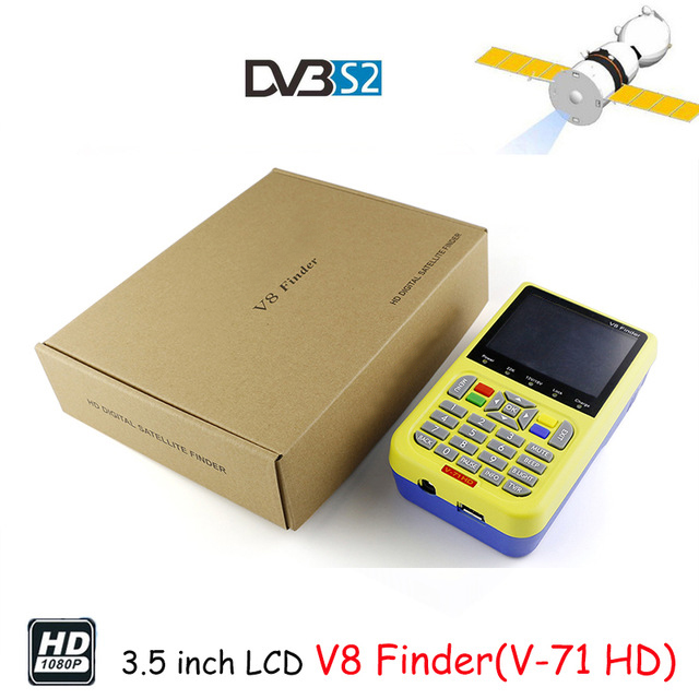 V8 Finder Full HD DVB-S2/S High Definition FTA Digital Satellite Signal Finder V-71 MPEG-2/MPEG-4 Satellite Finder Meter original satlink ws 6925 signal meter finder dvb t hd mpe4 h 264 finder meter terrestrial signal finder