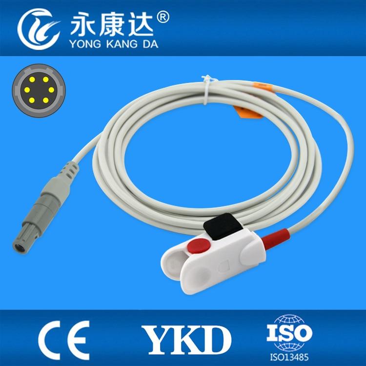 3PCS/Lot Mindray PM8000/7000/9000 pediatric finger clip spo2 sensor 6pin 40 degree, Masimo model laplaya traditional 35 100 blue