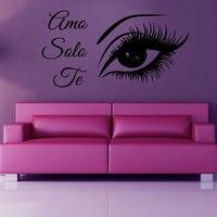 Wall Decals Girl Amo Solo Te Eye People Vinyl Sticker Murals Wall Decor