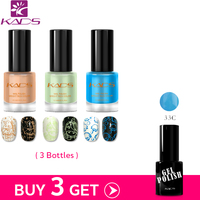 KADS Buy 3 Get 1 Gift 9.5ml two in one nail stamping polish Nail gel Polish UV Nail Art Color UV LED Gel Polish Set