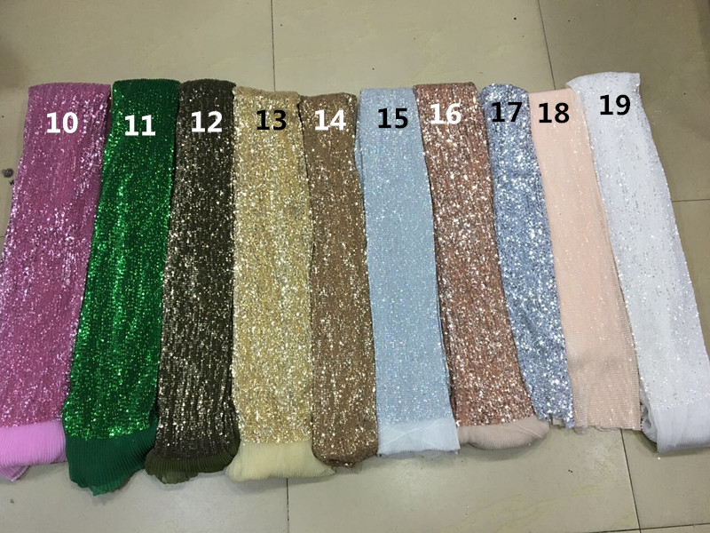 Ev ve Bahçe'ten Kumaş'de 19 renkler Moda tasarım Fransız net dantel payetli kumaş işlemeli dantel kumaş CiCi 72708 parti elbise için'da  Grup 3