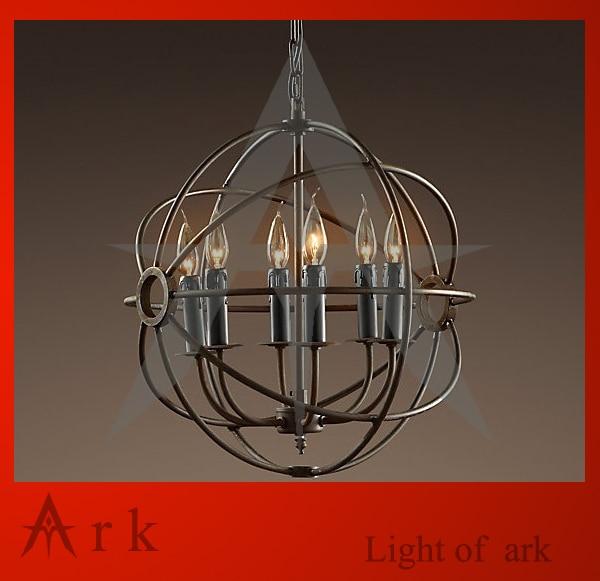 ark light RH Loft Foucault pendant light  wrought iron pendant light for living room dg home настольная лампа foucault