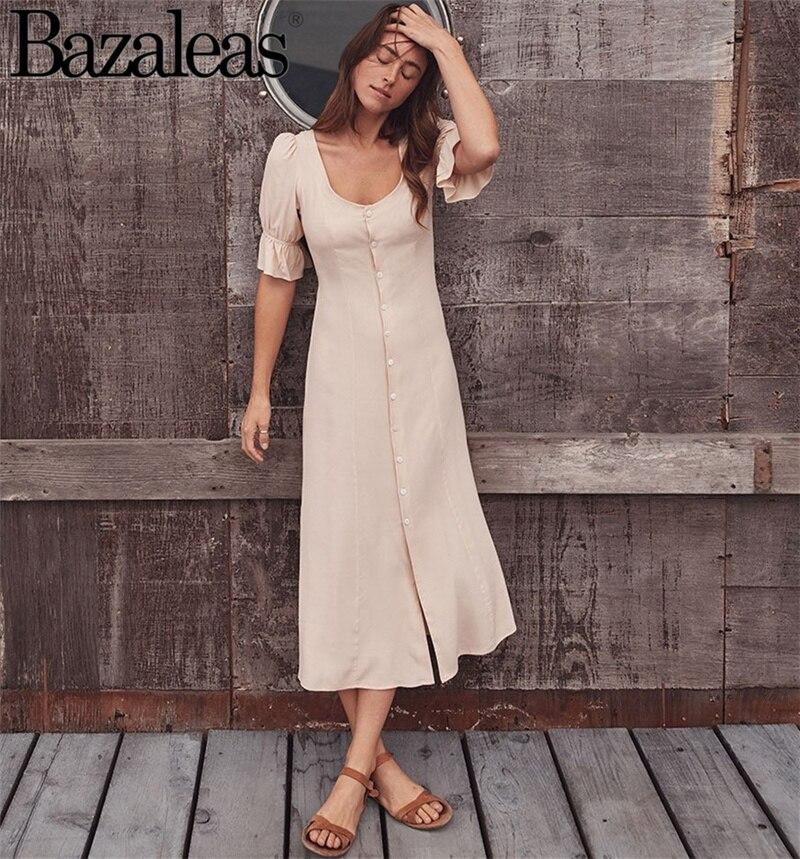 2019 Flora Ruffle Trimming Waist Dress Vestidos Elastic Women Dress Flare Sleeve A-line Style Women Full Sleeve Dress Dresses